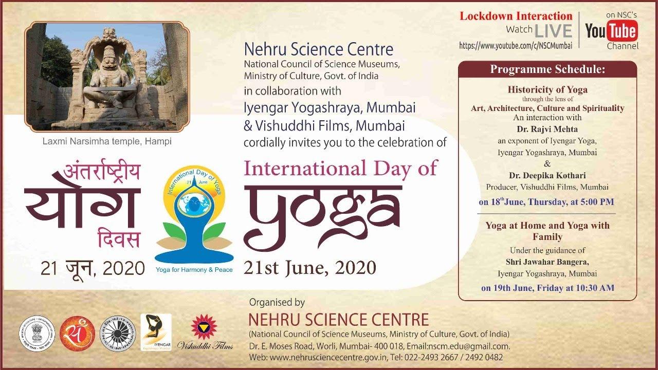 Celebration of International Day of Yoga 2020 - Part I