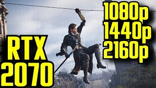 Assassins Creed Syndicate RTX 2070 OC | 1080p - 1440p & (4K) 2160p | FRAME-RATE TEST