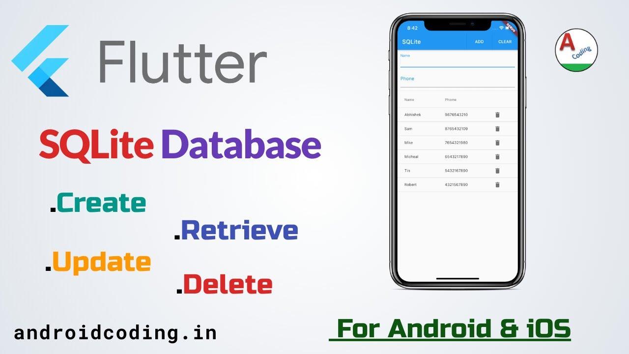 Flutter SQLite Implementation| SQFLite | Local Database | flutter coding