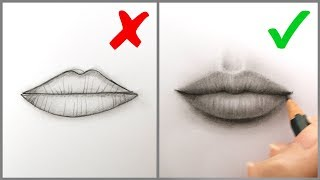Download lagu Don'ts & Do's: How to Draw Realistic Lips (Mouth) – Easy Step by Step Tutorial for Beginners (2019)