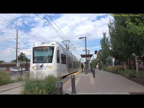 Streetcars (Trams) in Salt Lake City, Utah, 2018
