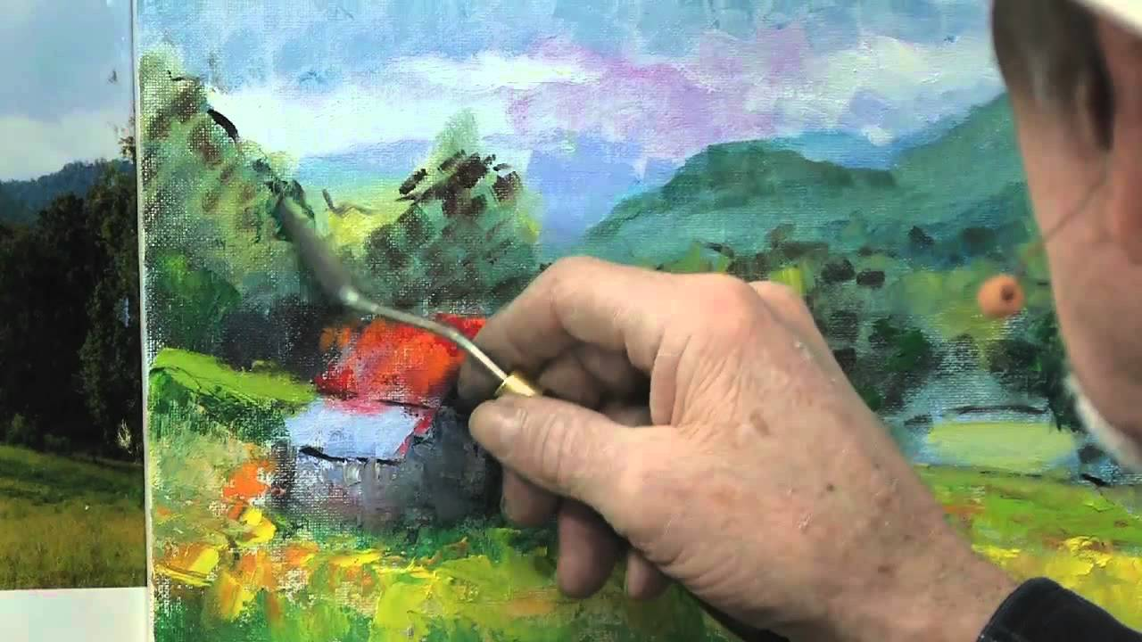 How to Use a Palette Knife in Oil Painting - YouTube