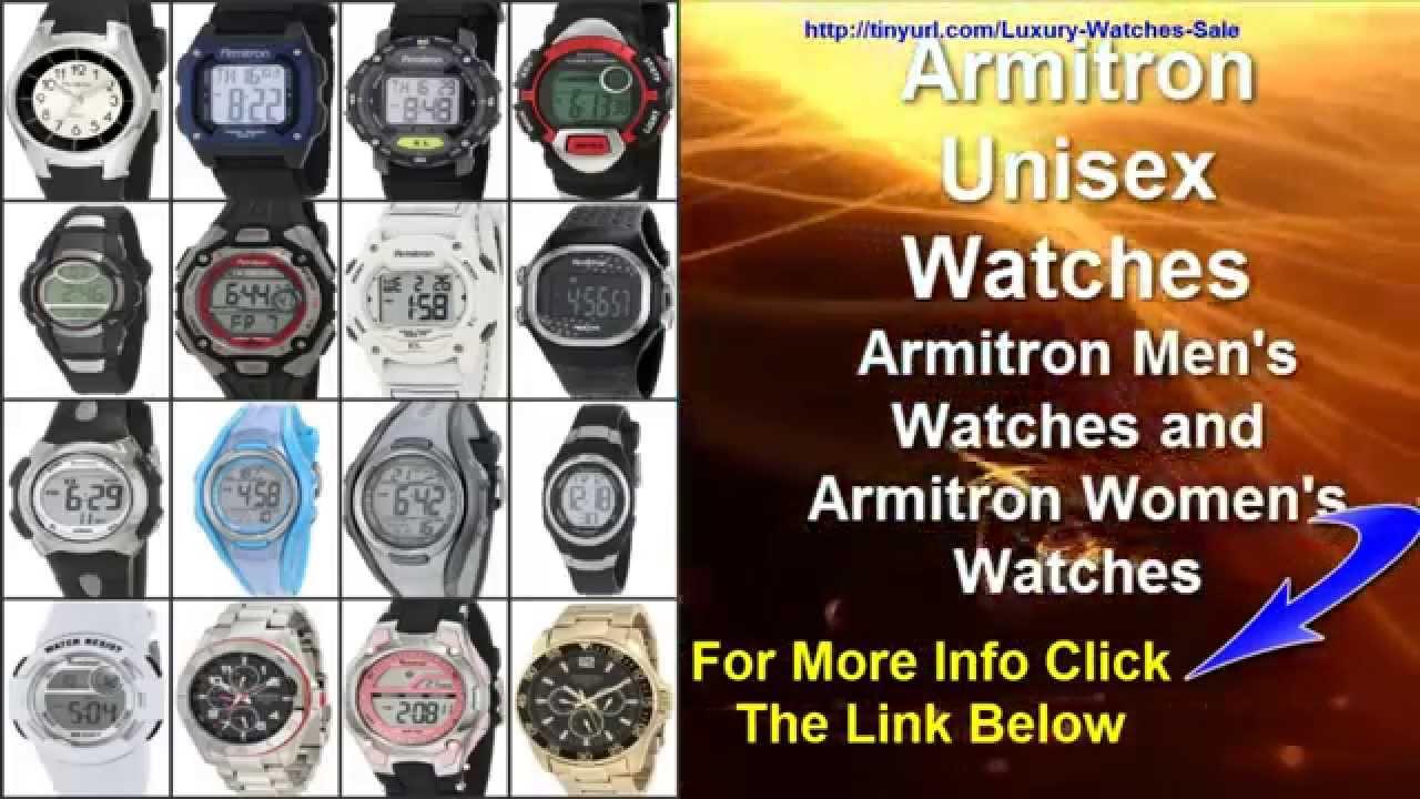 armitron unisex watches armitron mens watches armitron womens rh youtube com armitron wr 165 ft watch set time Armitron WR 165