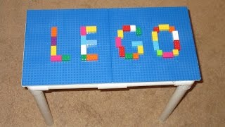 Lego Table Diy With Pvc - Pvc Pipe Projects