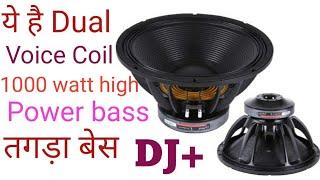 dj plus 18 inch 1000watt speaker price  reviw