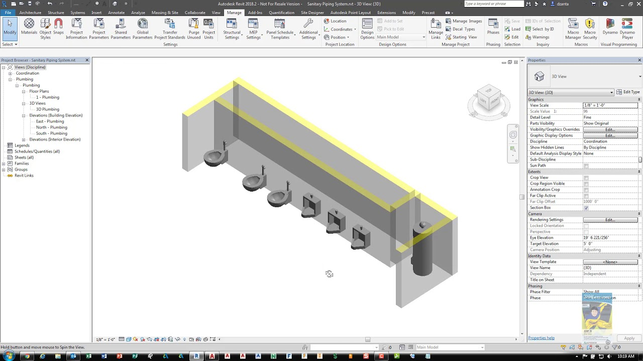 Sanitary Pipe Systems in Revit - A How To Guide