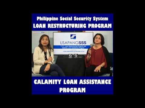SSS Loan Restructuring Program and Calamity Loan Assistance Program | Public Service