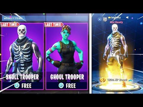 i UNLOCKED Skull Trooper Today for FREE in Fortnite! (Fortnite Skull Trooper 2018)