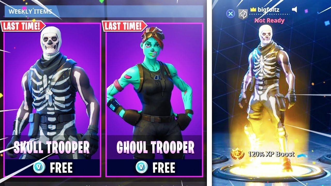 I Unlocked Skull Trooper Today For Free In Fortnite Fortnite Skull