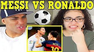 Lionel Messi Vs Cristiano Ronaldo: Top 10 Craziest Fights, Fouls, Red Cards REACTION | MY DAD REACTS