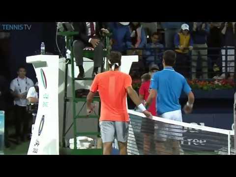 Roger Federer Championship point vs Novak Djokovic in 2015 ATP Dubai Final
