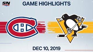 NHL Highlights   Canadiens vs. Penguins – Dec. 10, 2019