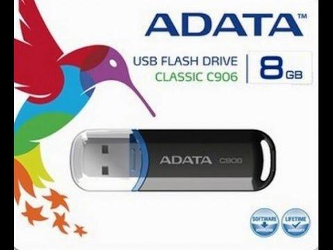 ADATA Classic C906 8GB White USB Flash Drive Unboxing