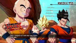 Dragon Ball FighterZ (Xbox One) Arcade as Goku (SS), Gohan (Adult) & Krillin