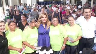 Acude Gobernadora a Villa Hidalgo a entregar apoyos y obras