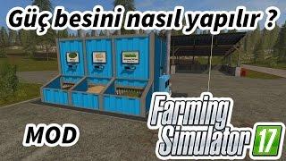 Farming Simulator 17 - Mixing Station Mod Deneme ve Güç Besini Yapma #01