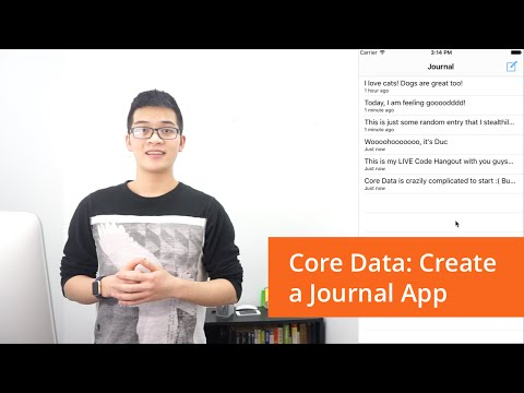 Core Data: Create a Journal App