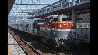 甲種輸送 DE10 1726号機+名古屋市営地下鉄N3000形(N3109H)+ヨ8000形 蒲郡駅通過
