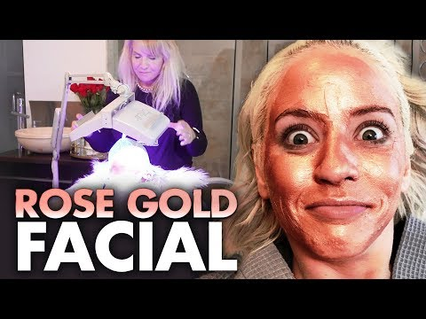 Trying the ROSE GOLD Clay Mask Facial!! (Beauty Trippin)