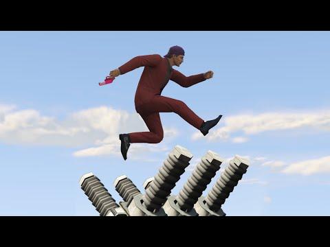 MOST INTENSE DEATHRUN EVER!? (GTA 5 Funny Moments)