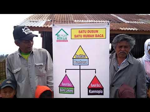 Kepala Dusun Parang Boddong Dukung Rumah Baca Di Dusunnya