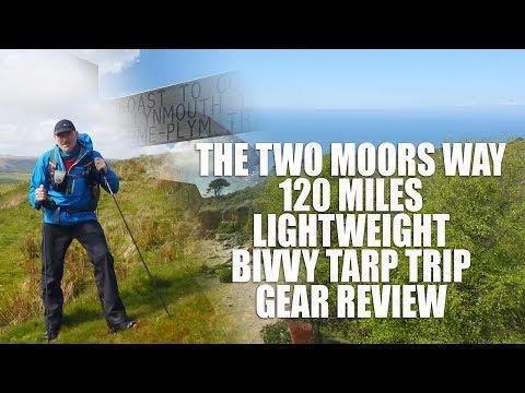 The Two Moors Way - 120 Miles - Bivvy & Tarp Gear Review