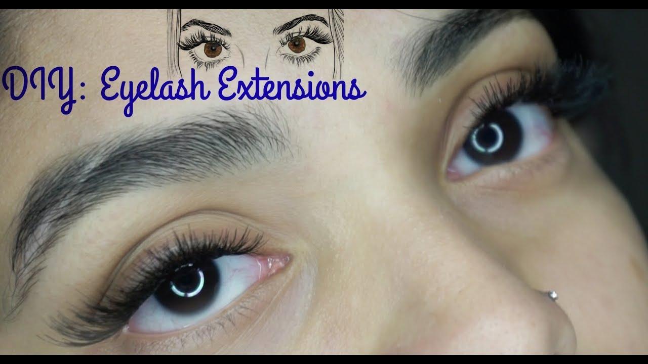 Diy Affordable Eyelash Extensions Youtube