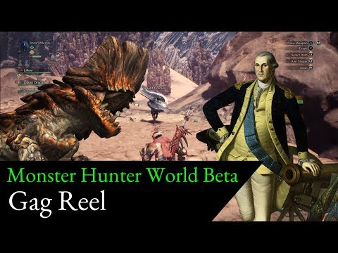 Mushku Ungracefully Plays Monster Hunter World Beta - Funny Moments Gag Reel