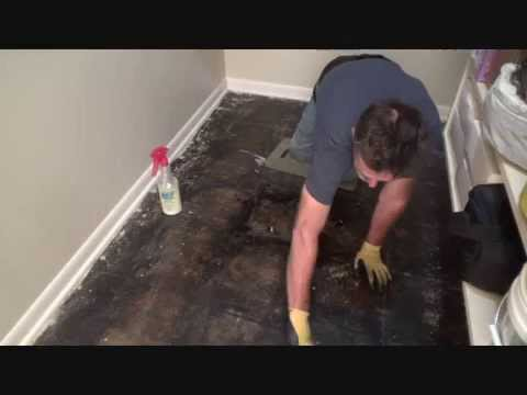 removing black tar floor mastic