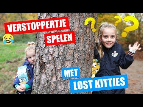 VERSTOPPERTJE SPELEN IN HET BOS met LOST KITTIES!! ♥DeZoeteZusjes♥