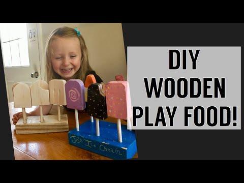 DIY Wooden Play Food-ICE CREAM | Handmade Christmas Series
