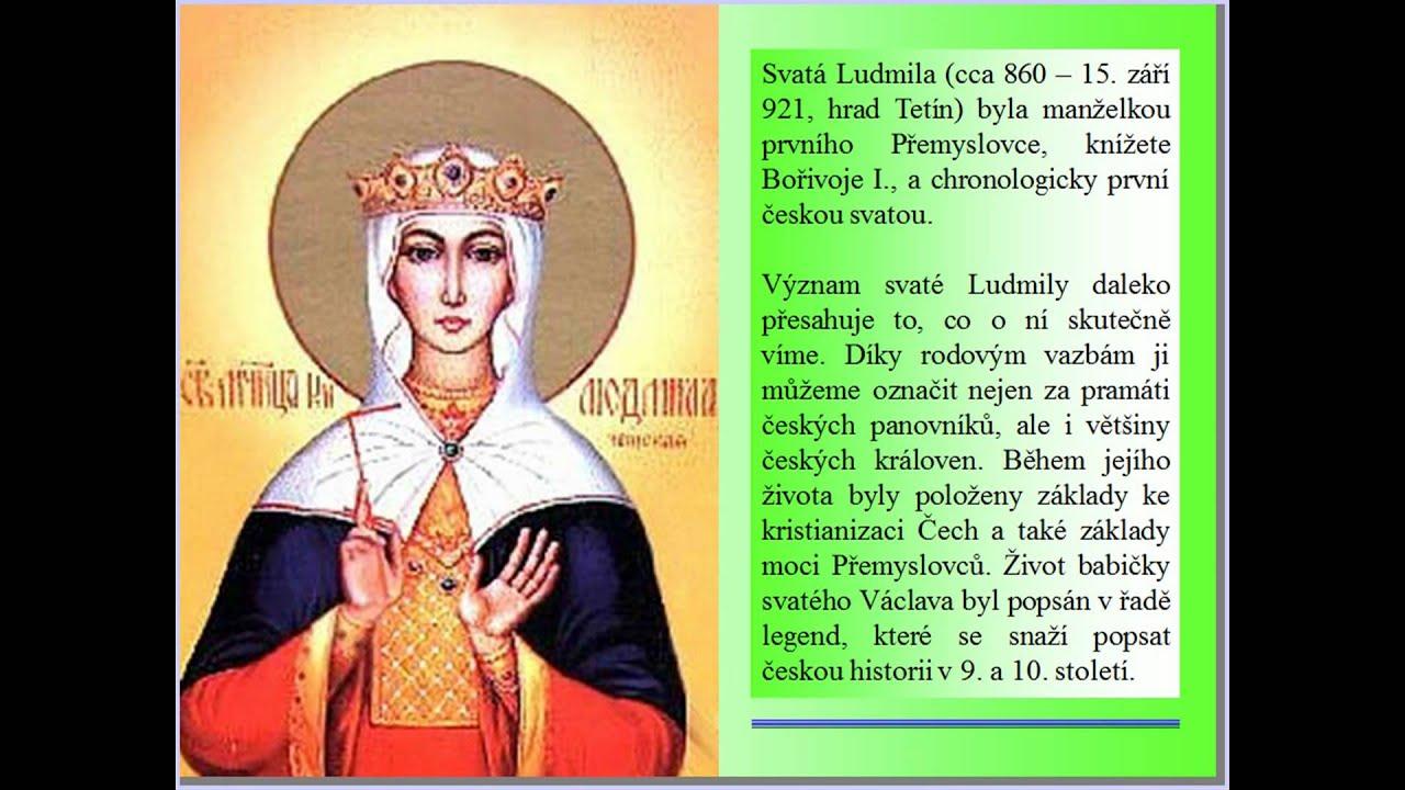 cirkevni kalendar Církevní kalendář 16.9. sv. Ludmila (Religious calendar)   YouTube cirkevni kalendar