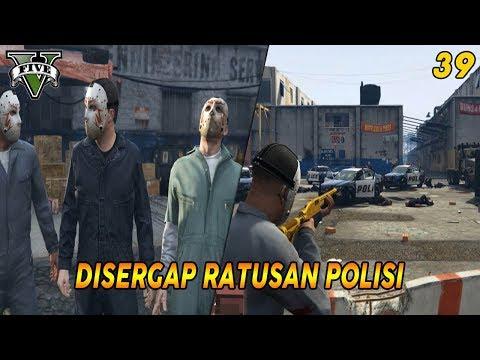 DISERGAP RATUSAN POLISI   PANDUAN MISI GTA 5 (39) BLITZ PLAY 100% COMPLETION GOLD MEDAL