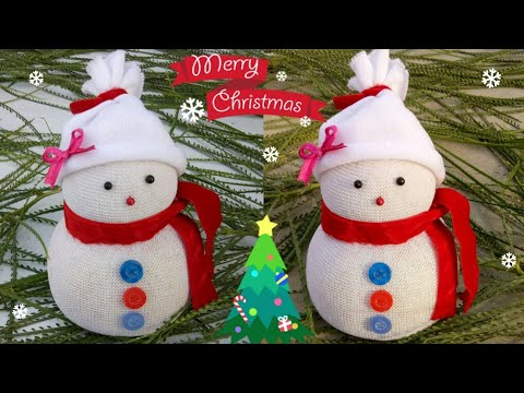 Diy Snowman Making Easy Socks Snowman Christmas Craft Idea For Kids