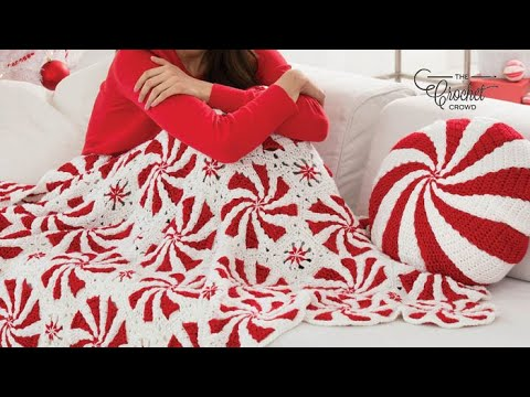 How To 🍬 Crochet Peppermint Throw - YouTube