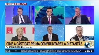 Ion Cristoiu, verdict dur după confruntarea, de la distanță, la TV Iohannis - Dăncilă