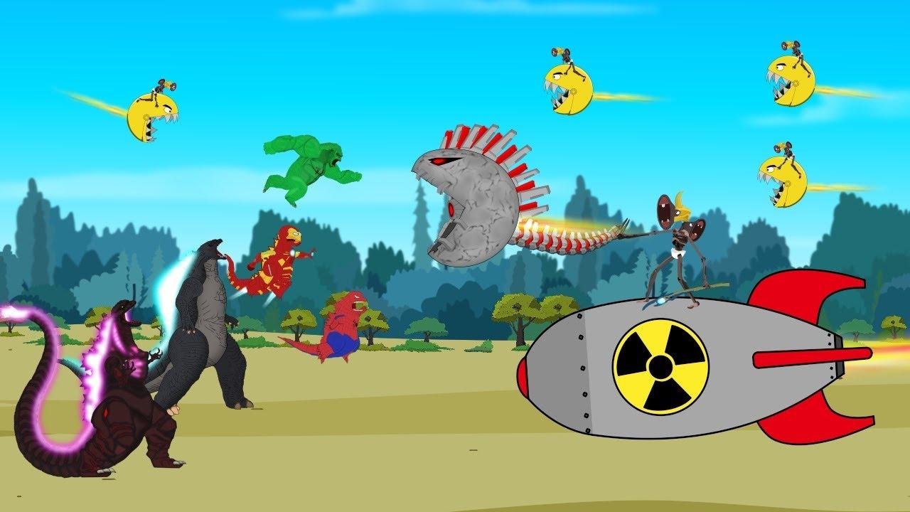 Godzilla -Kong -SUPERHEROES vs SIREN HEAD VENGERS Taking Over the World | Godzilla Animation Cartoon