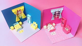 DIY Miniature Paper House   How to Make Paper House   Origami Doll House   3d Paper Crafts