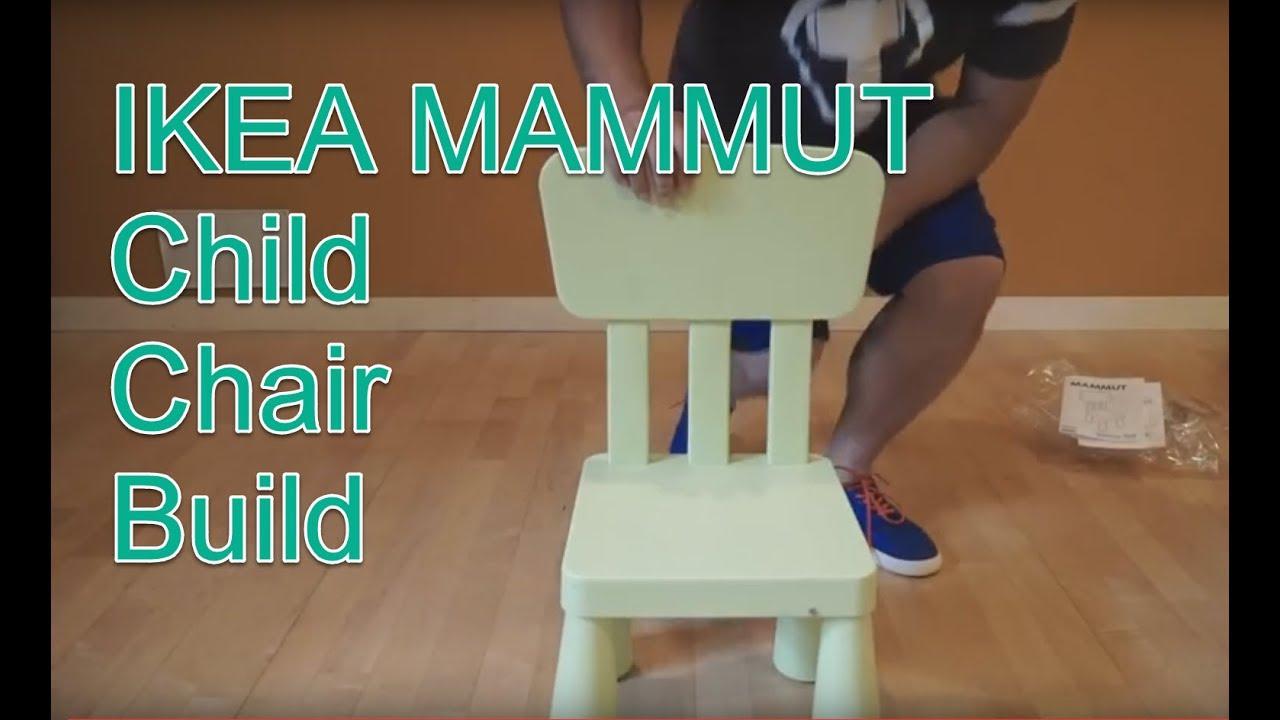Ikea Mammut Chair Assembly Youtube
