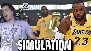 I'M NOT ENDING THE VIDEO UNTIL LEBRON WINS A RING!!! - NBA 2K19 SIMULATION