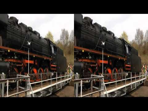 Tau Hoa chay hoi nuoc co o TP Dresden 2011 3D   Phan2   3D Video 1080p