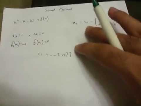 Numerical Analysis: Secant Method