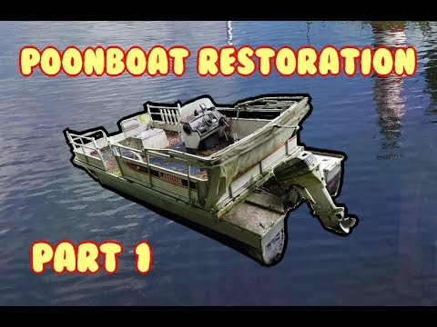 Pontoon Boat Resto (Part 1) Clean, Power Trim, Cylinder Check 1989 Lowe 189