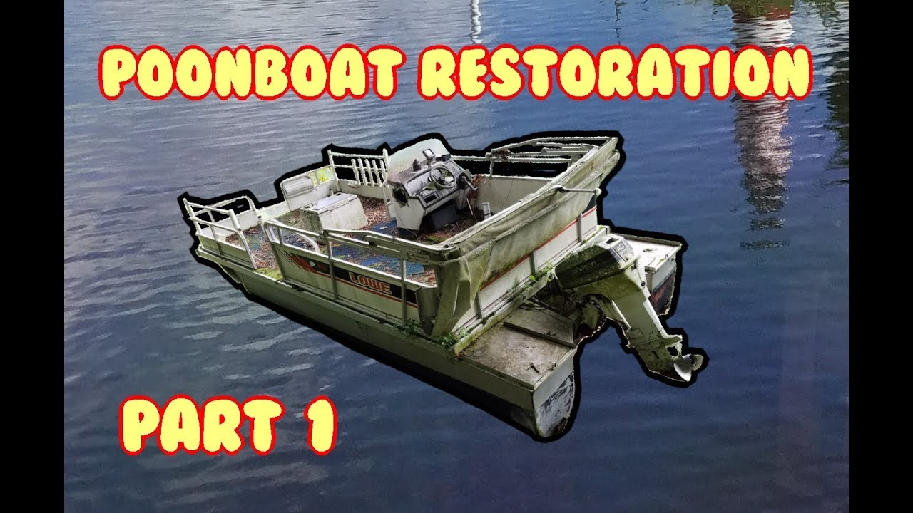 Pontoon boat resto (Part 1) Clean, Power Trim, Cylinder check 1989 on