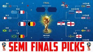 World Cup Semi Finals Predictions - France vs Belgium Prediction - England vs Croatia Predictions