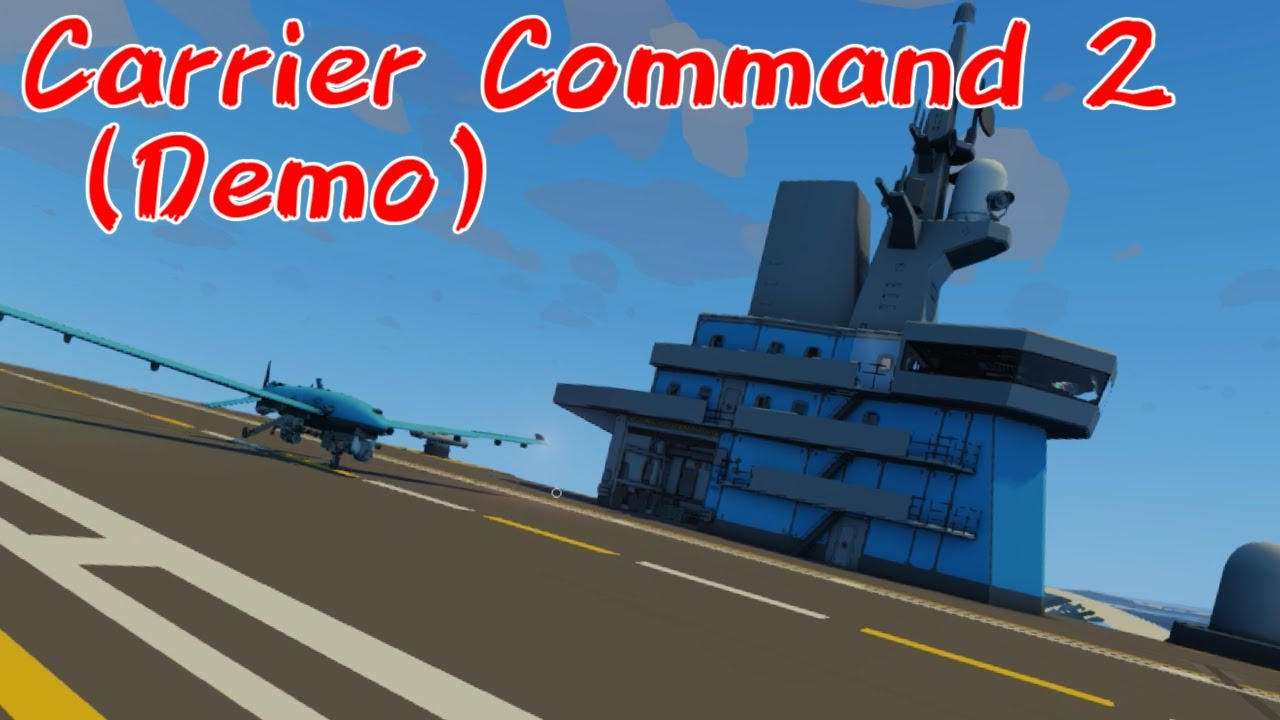 【CarrierCommand2Demo】ドローン母艦で上陸支援すっぞ【体験版】