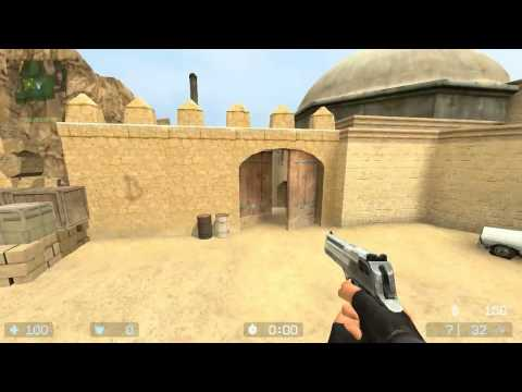 Holding off Bomb Sites de_dust2 (Counter Strike Source)