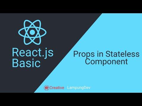 04 React.js Tutorial - Props pada Stateless Component thumbnail