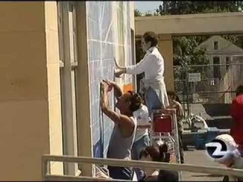 Playground Painting at Bret Harte Elementary School -- Rotary Club of San Francisco