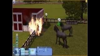 Sims 3 : Licorne qui éteint un feu !